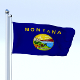 Animated Montana Flag - 3DOcean Item for Sale