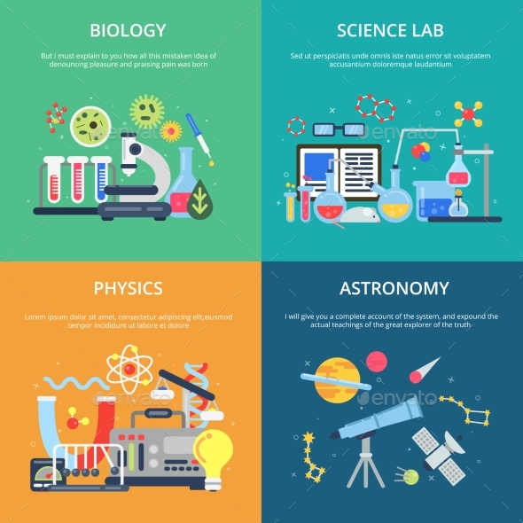 Concept Pictures with Science Symbols. School - Miscellaneous Vectors