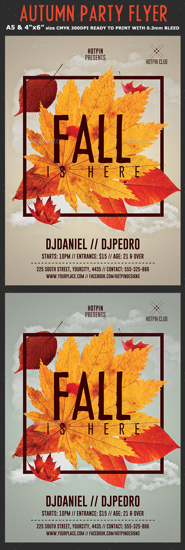 GraphicRiver Fall Party Flyer Template 20482754