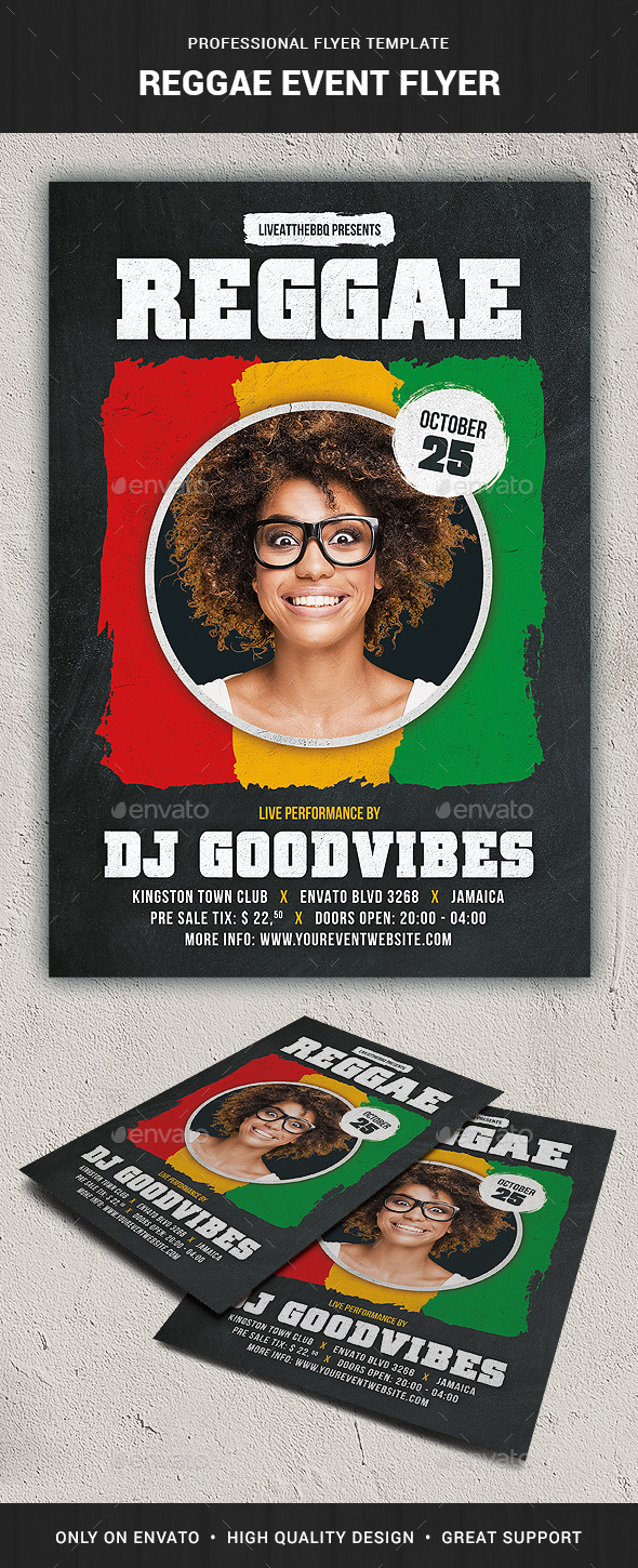 GraphicRiver Reggae Event Flyer Template 20482799