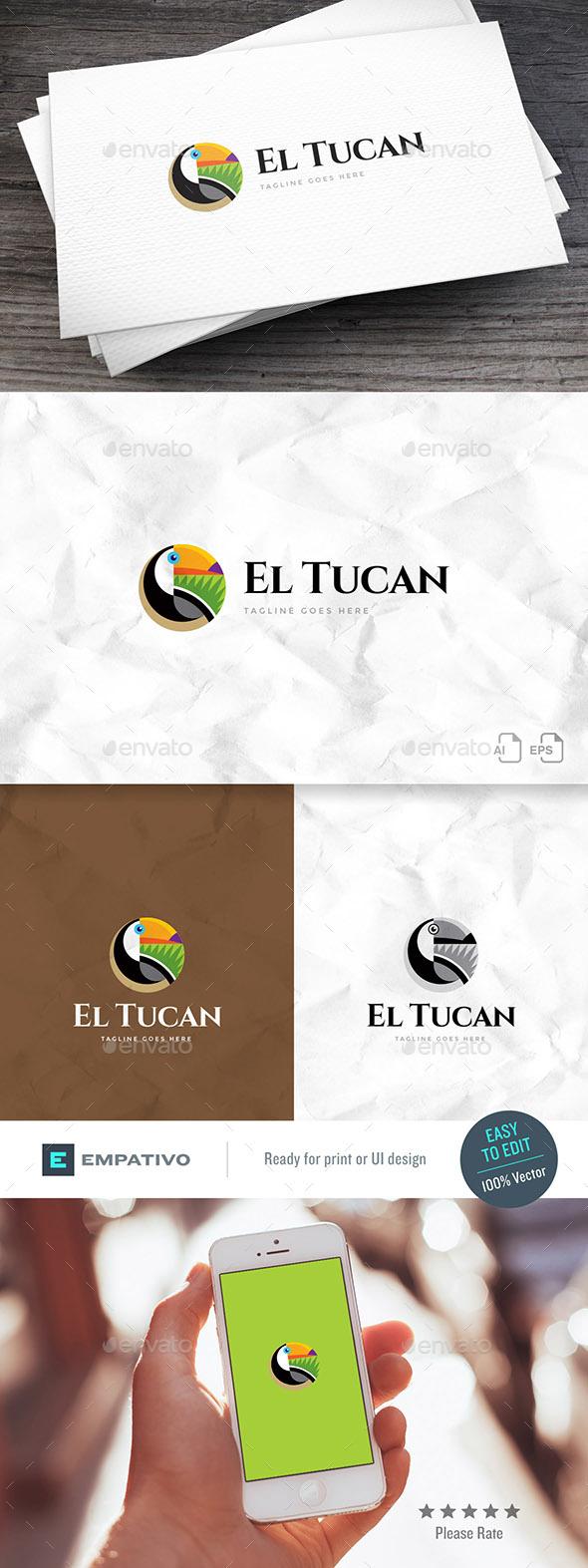 Toucan Logo Template - Animals Logo Templates
