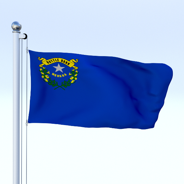 Animated Nevada Flag - 3DOcean Item for Sale