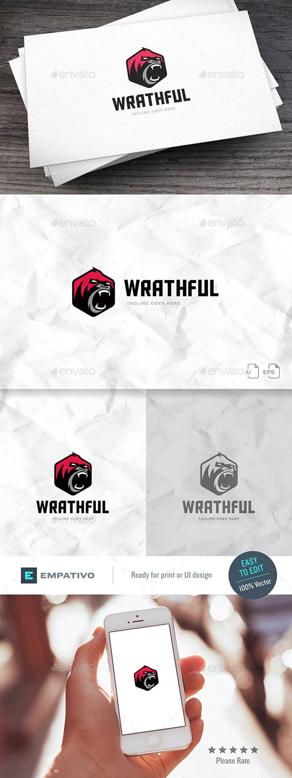 Wrathful Logo Template - Animals Logo Templates