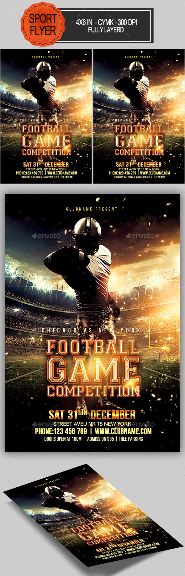 GraphicRiver Football Flyer 20482841