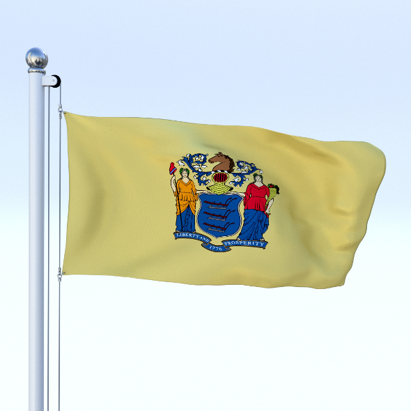 Animated New Jersey Flag - 3DOcean Item for Sale