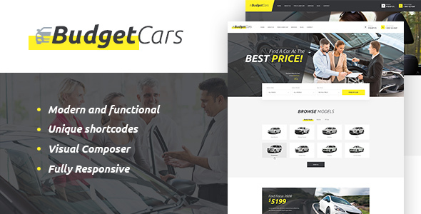 Budget Cars | Used Car Dealer & Store WordPress Theme - Retail WordPress