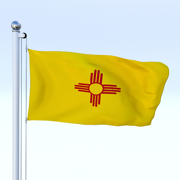 Animated New Mexico Flag - 3DOcean Item for Sale