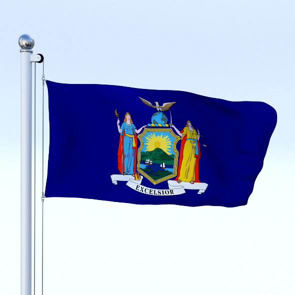 Animated New York Flag - 3DOcean Item for Sale