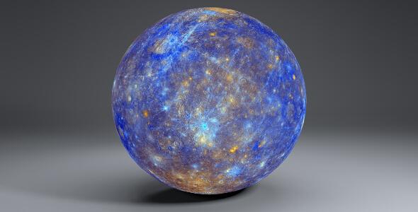 Mercury 11k Globe - 3DOcean Item for Sale