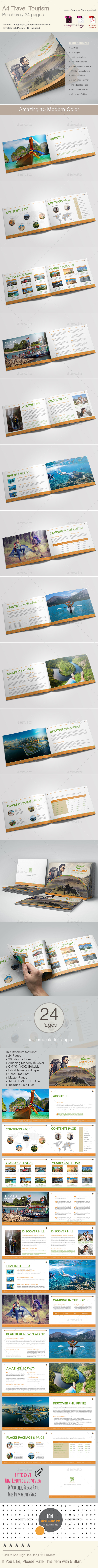 Travel Tourism Brochure Template