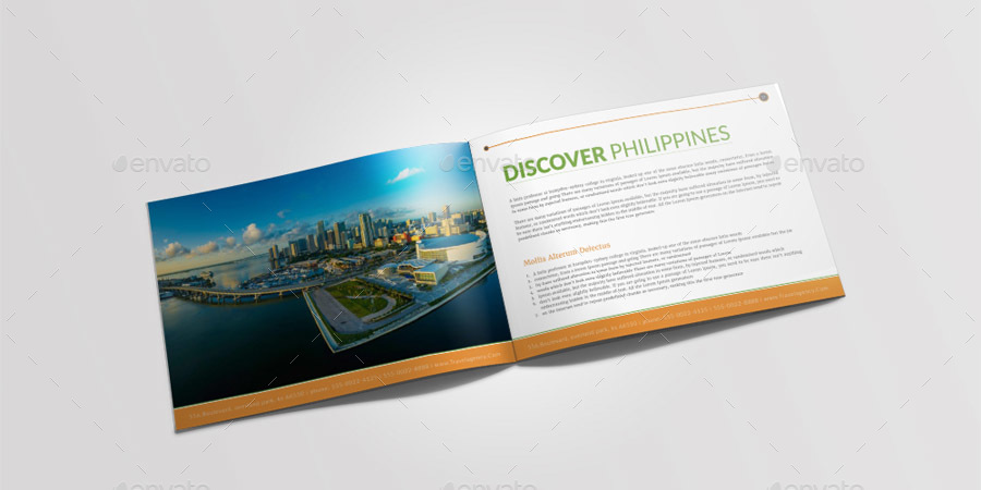 Travel Tourism Brochure Template By Graphicshaper Graphicriver