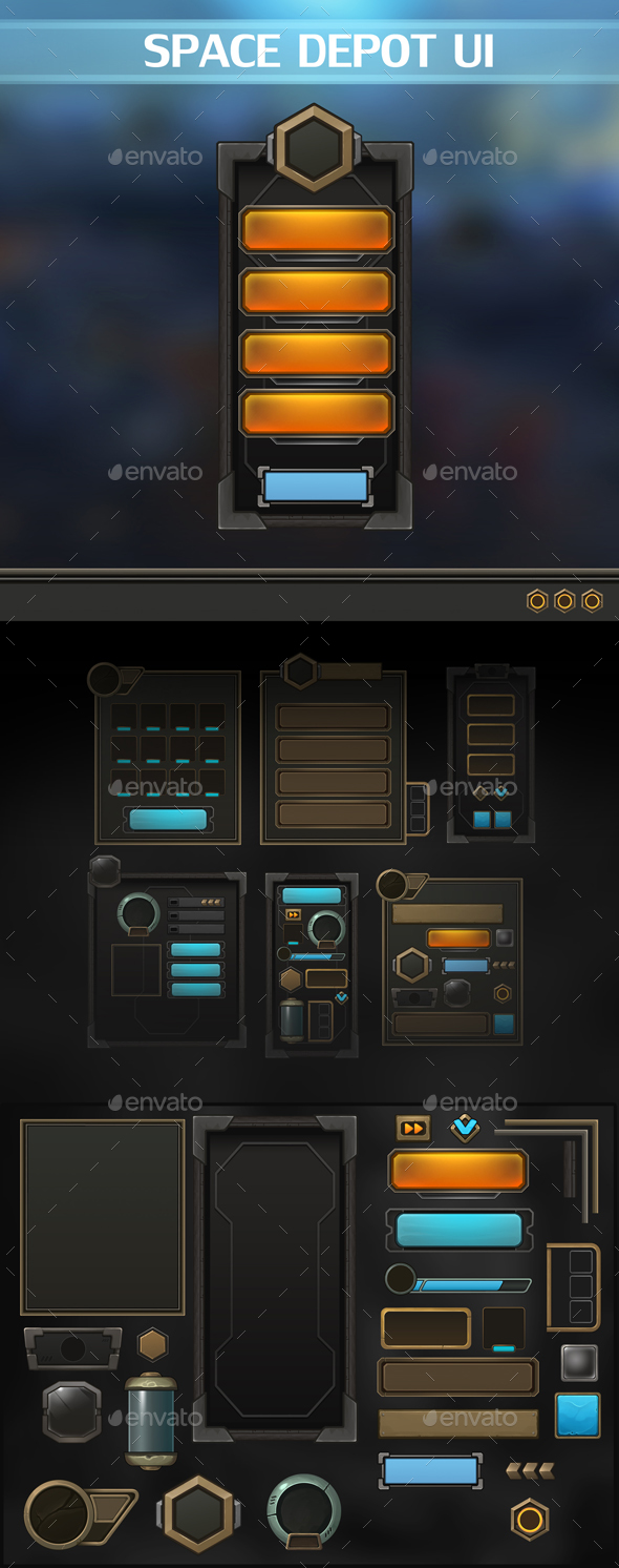 GraphicRiver Space Depot UI 20483021