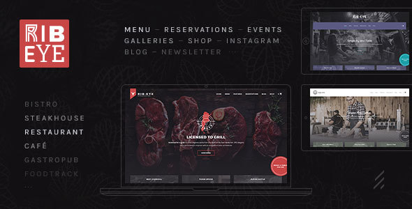 Rib-Eye: A Juicy Steakhouse & Restaurant WordPress Theme - Restaurants & Cafes Entertainment