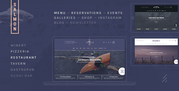 Salmon: A Beautiful Multi-Purpose Restaurant WordPress Theme