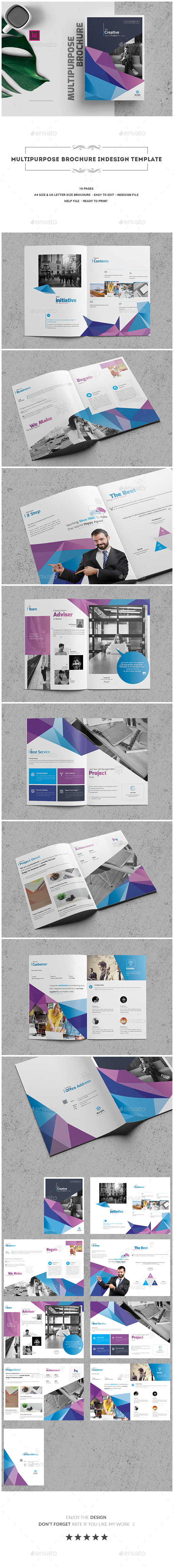 GraphicRiver Multipurpose Brochure InDesign Template 20483064