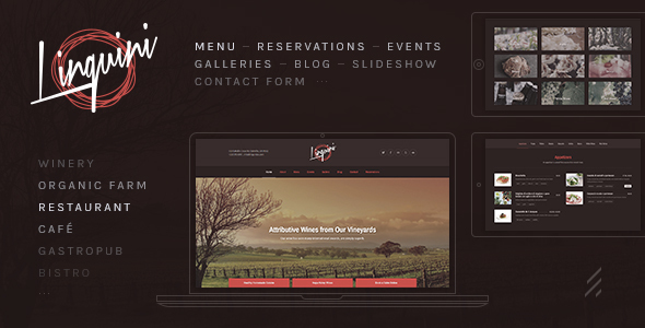 Linguini: A Classic Restaurant WordPress Theme - Restaurants & Cafes Entertainment