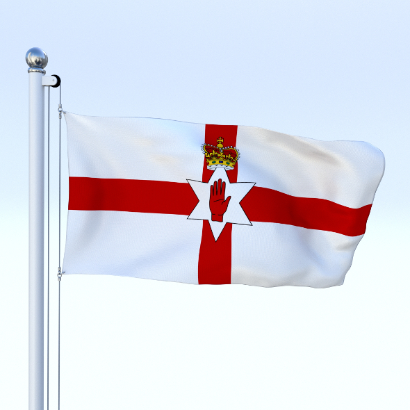 Animated Northern Ireland Flag - 3DOcean Item for Sale