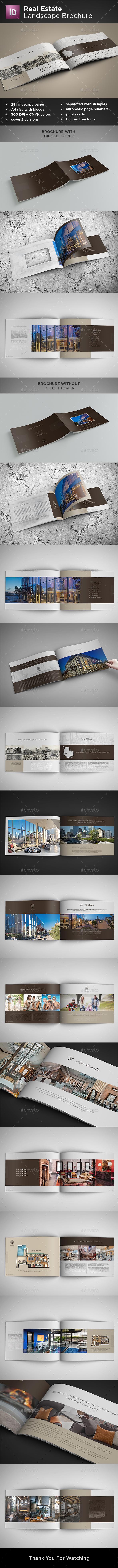 Real Estate Landscape Brochure - Brochures Print Templates