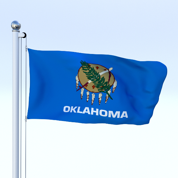 Animated Oklahoma Flag - 3DOcean Item for Sale