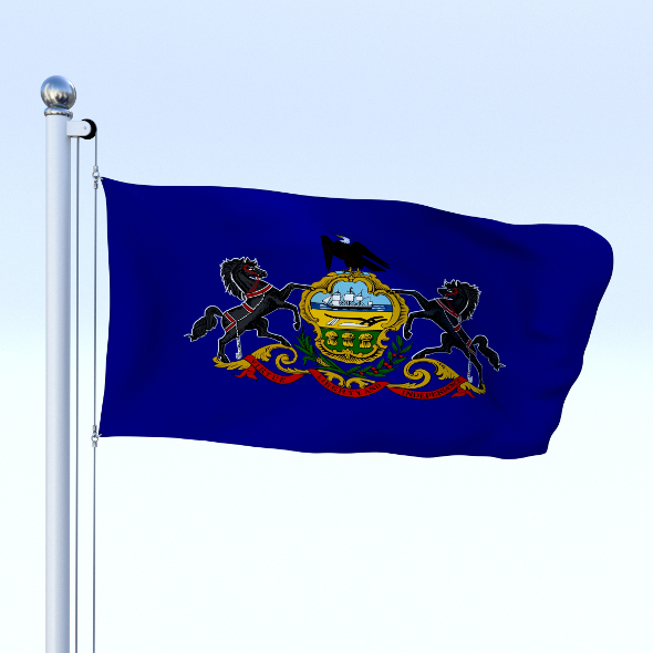 Animated Pennsylvania Flag - 3DOcean Item for Sale