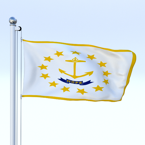 Animated Rhode Island Flag - 3DOcean Item for Sale