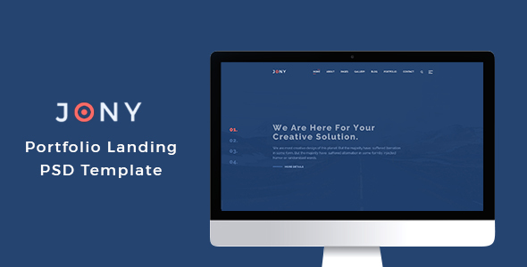 Joney - Portfolio PSD Template - Portfolio Creative