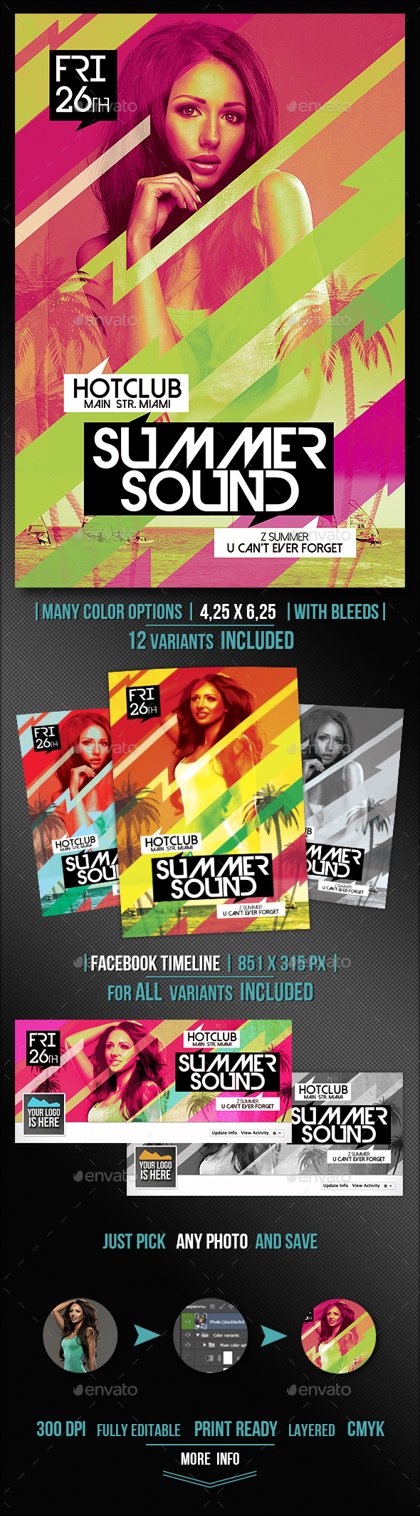 Summer Sound Flyer + FB Cover Vol.2 - Events Flyers