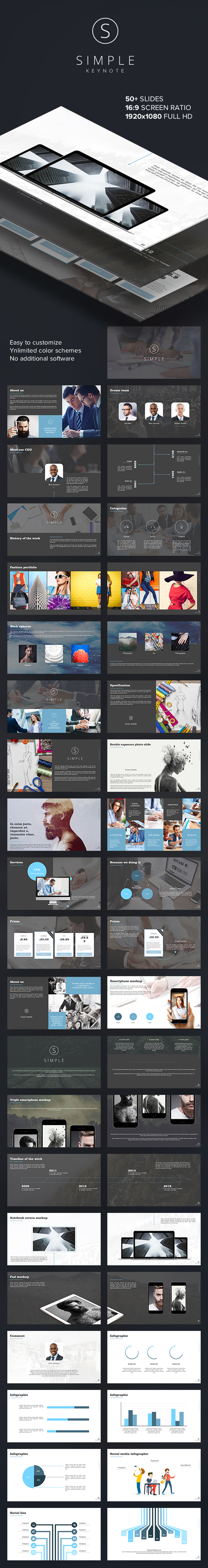 GraphicRiver Simple Multipurpose Business Keynote Template 20483859