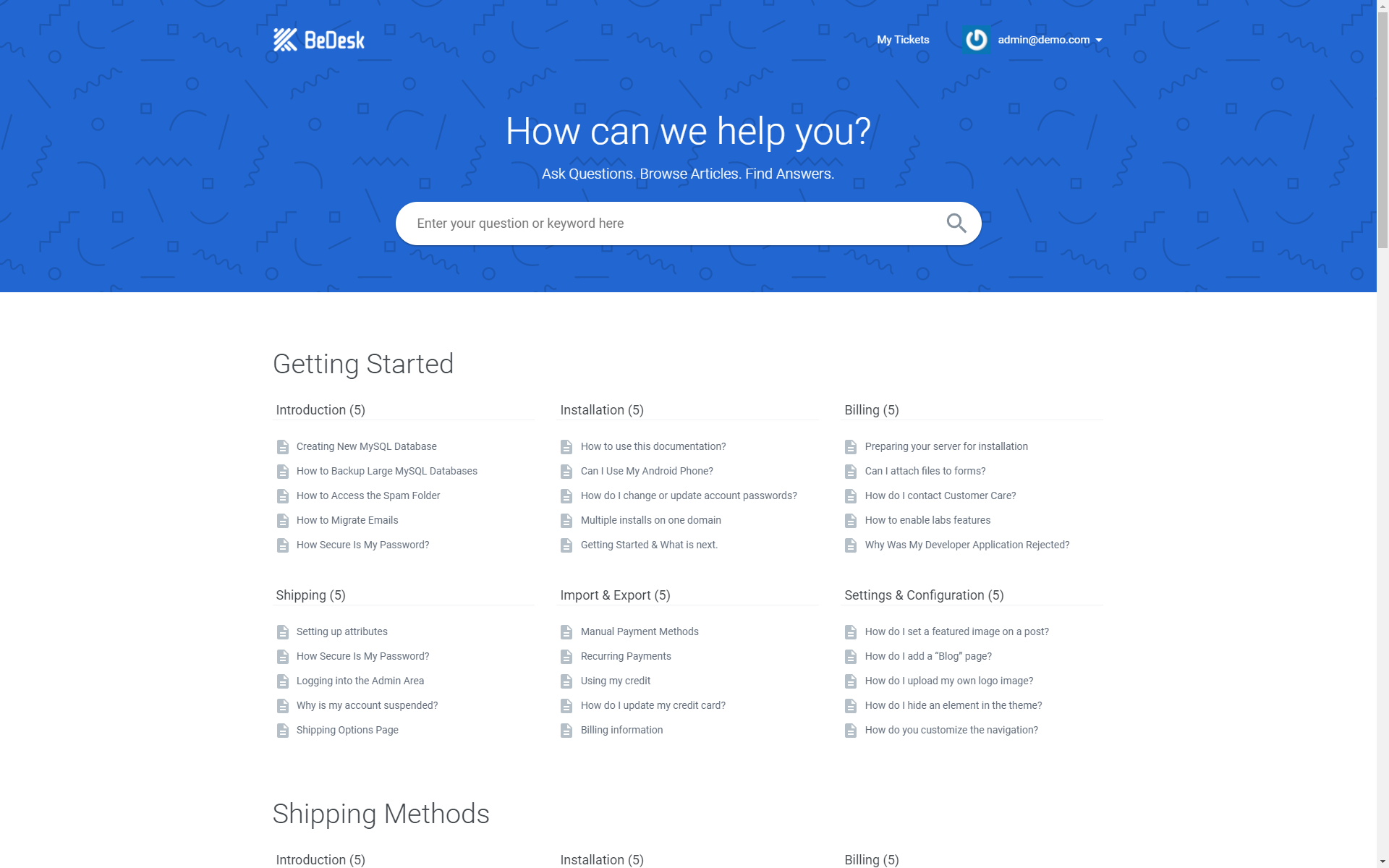 BeDesk - Customer Support Software & Helpdesk Ticketing System by Vebto