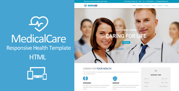 Medical Care - Responsive Health & Medical Template