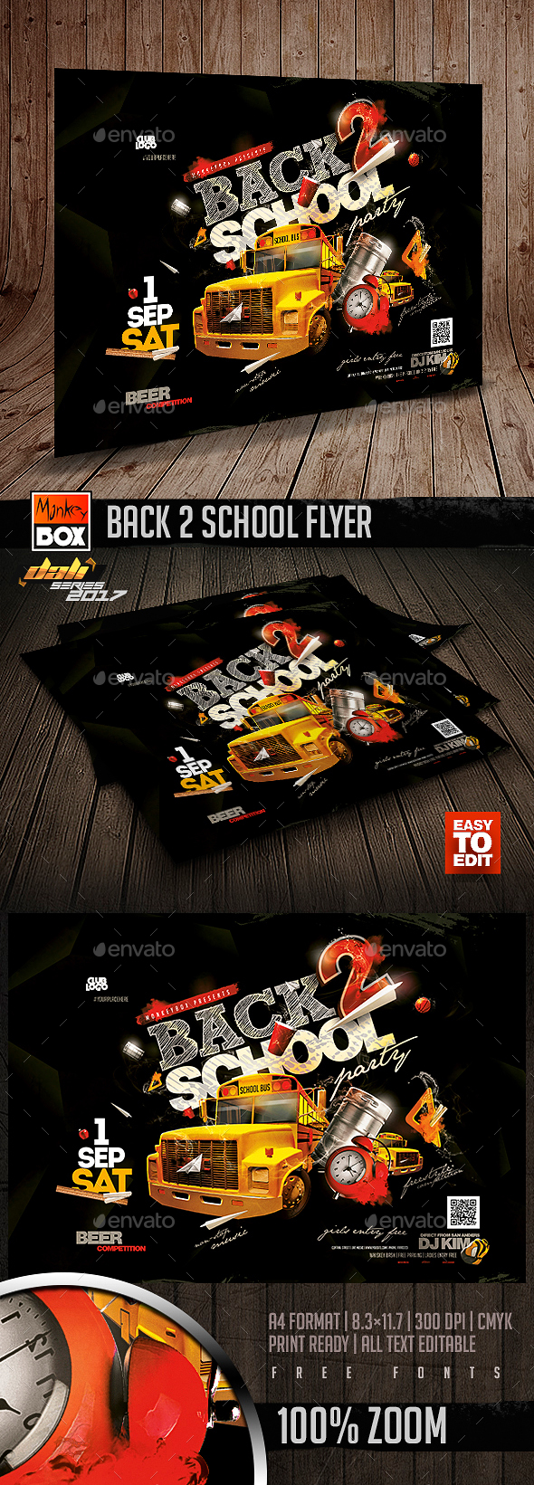 Back 2 School Flyer - Flyers Print Templates