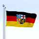 Animated Saarland German State Flag