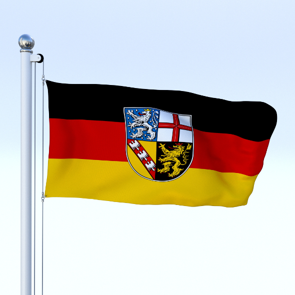 3DOcean Animated Saarland German State Flag 20484422
