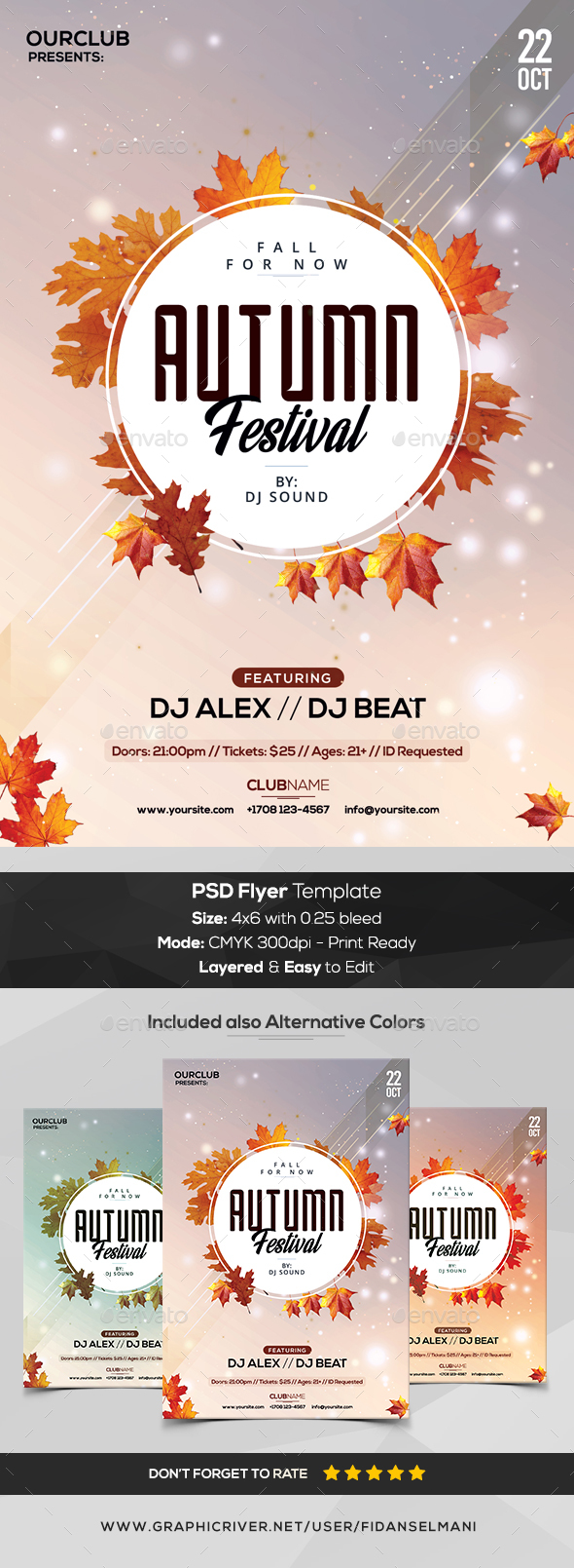 Autumn Festival - PSD Flyer Template - Flyers Print Templates