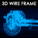 Car Chassis 3D Wire Frame