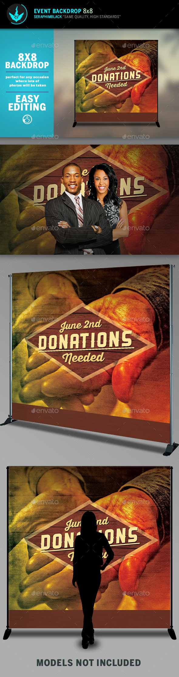 GraphicRiver Donations 8x8 Event Backdrop Template 20484650