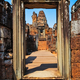 Detail of ancient stone temple entrance door at Angor Wat - PhotoDune Item for Sale