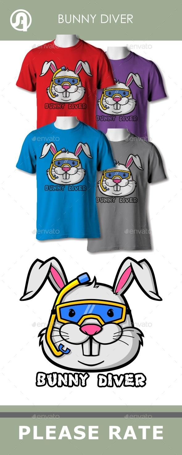 Bunny Diver - T-Shirts