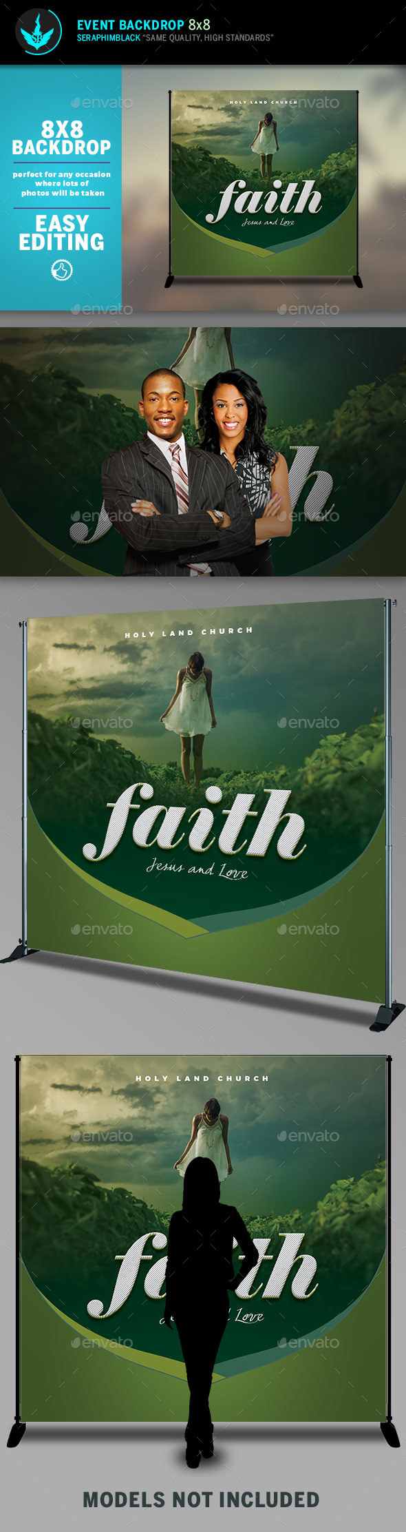 GraphicRiver Faith 8x8 Event Backdrop Template 20484838