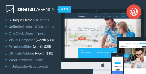 Digital Agency - SEO / Marketing WordPress Theme