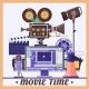 Retro Cinema Concept Poster