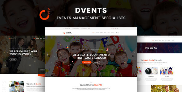 Dvents - Events Management Companies and Agencies WordPress Theme