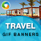 Travel Animated GIF Banners