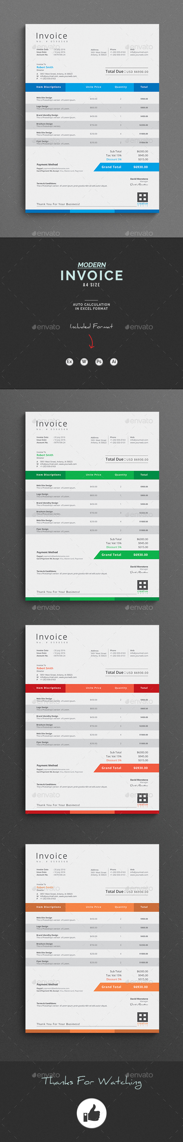 GraphicRiver Invoice 20485410