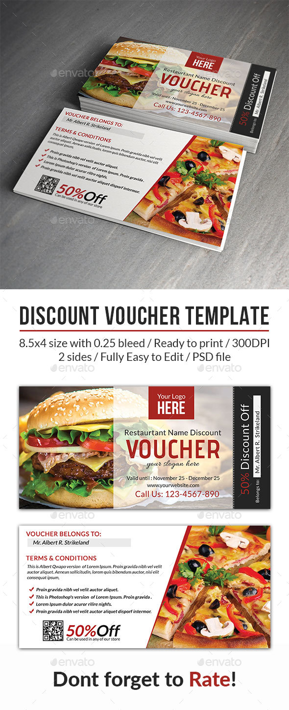 GraphicRiver Discount Voucher Template 20485447