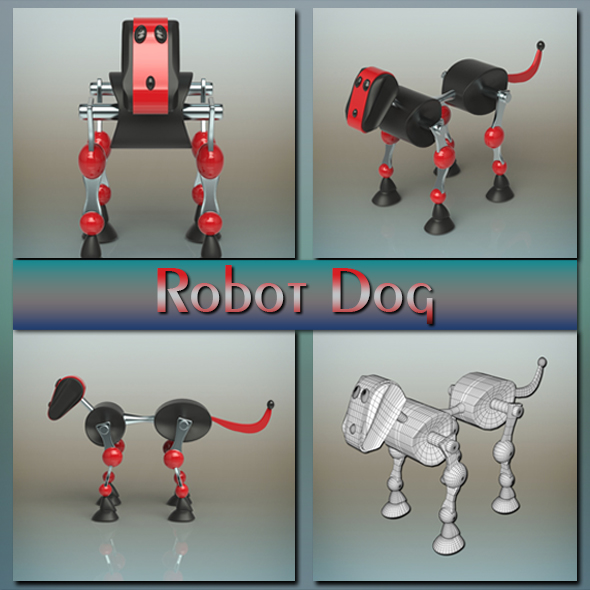 Robot Dog - 3DOcean Item for Sale