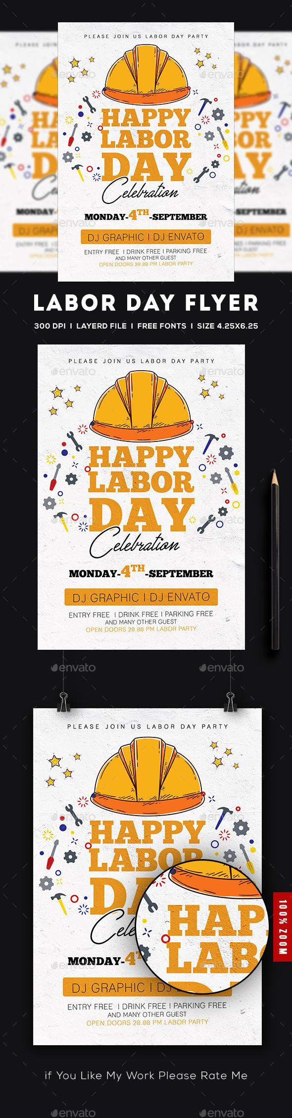 GraphicRiver Labor Day Flyer 20485840