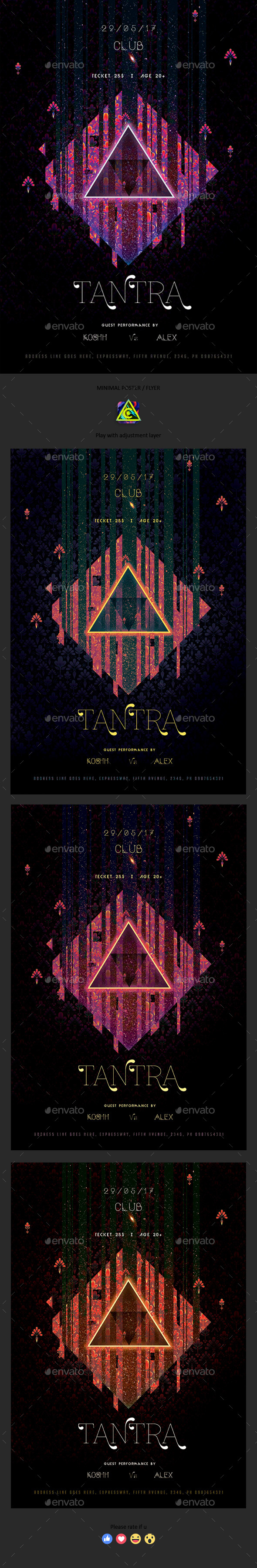 Tantra Minimal Poster / Flyer - Clubs & Parties Events
