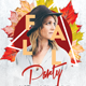 Fall Dj Party Flyer