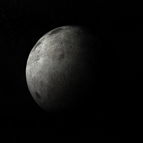 Moon 3d Model - 3DOcean Item for Sale